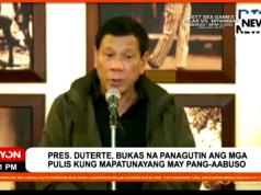 Duterte open to prosecuting rogue cops
