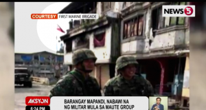 Flag over Mapandi Marawi