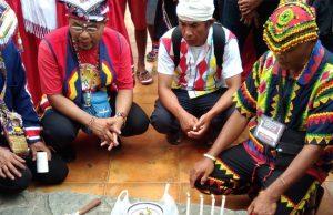 Lumad ritual before Lakbayan