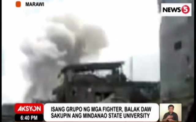Marawi scene of fighting