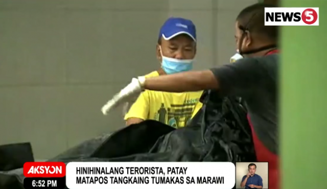 unclaimed bodies in Marawi armed conflict