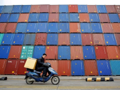 Ports, shipping containers Shanghai port