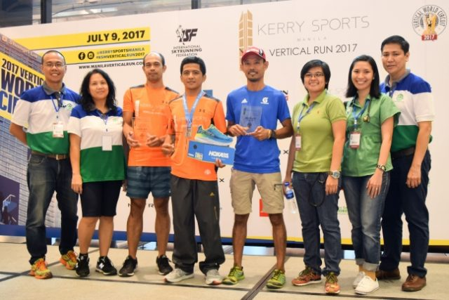 Winners Vertical Run Manila 2017