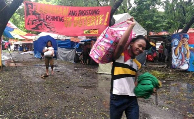 Lumad at UP Diliman encampent