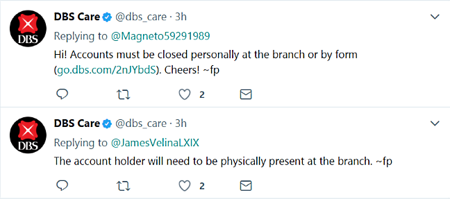 DBScare two replies