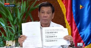 Duterte Trillanes alleged bank account numbers