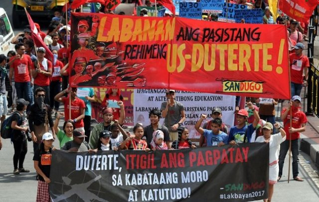 Lakbayan 2017 protest march.
