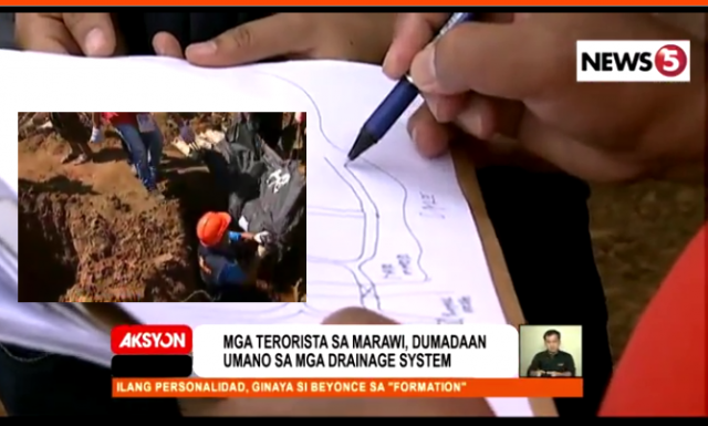 Marawi drainage system trace