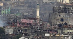 Marawi structures smoldering