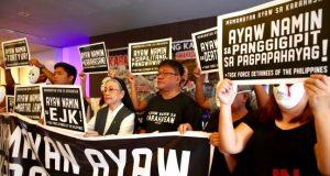 TFD protest, Sr. Cres Lucero