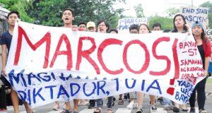Indignation rally denouncing Marcos