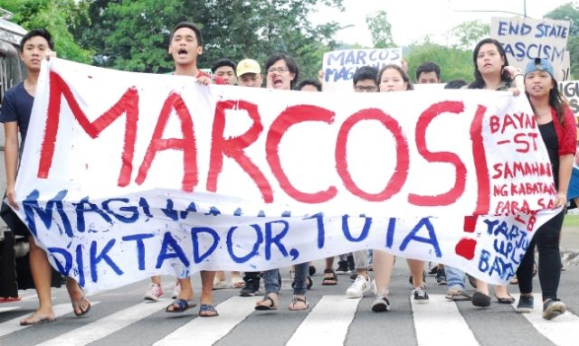 Indignation rally denouncing Marcos