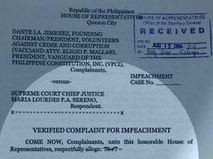 Second Sereno impeachment complaint.
