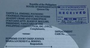 Second Sereno impeachment complaint.
