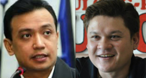 Senator Antonio Trillanes IV and Paolo Duterte