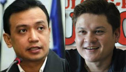 Senator Antonio Trillanes IV and Paolo Duterte