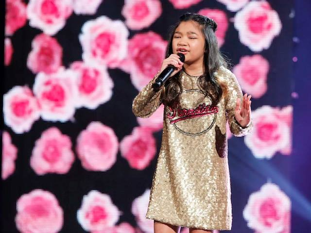 Angelica Hale performs'Symphony during the finals of'America's Got Talent