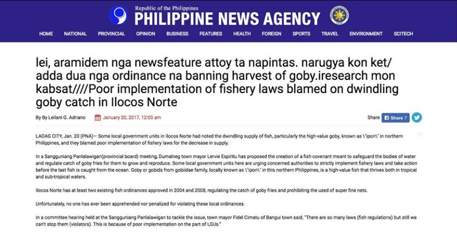 Posted PNA editorial blooper