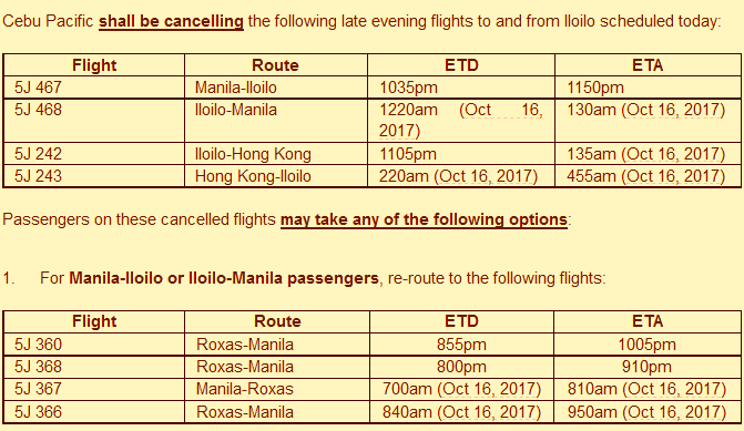CEB_Iloilo_flights_rerouting_Oct15_announcement