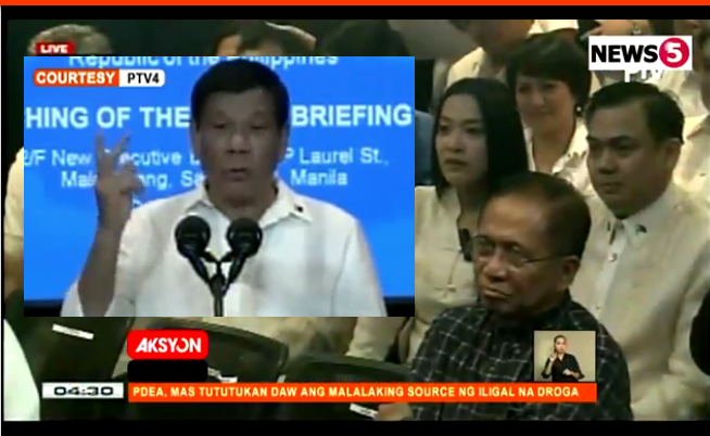 Duterte press briefing room speech