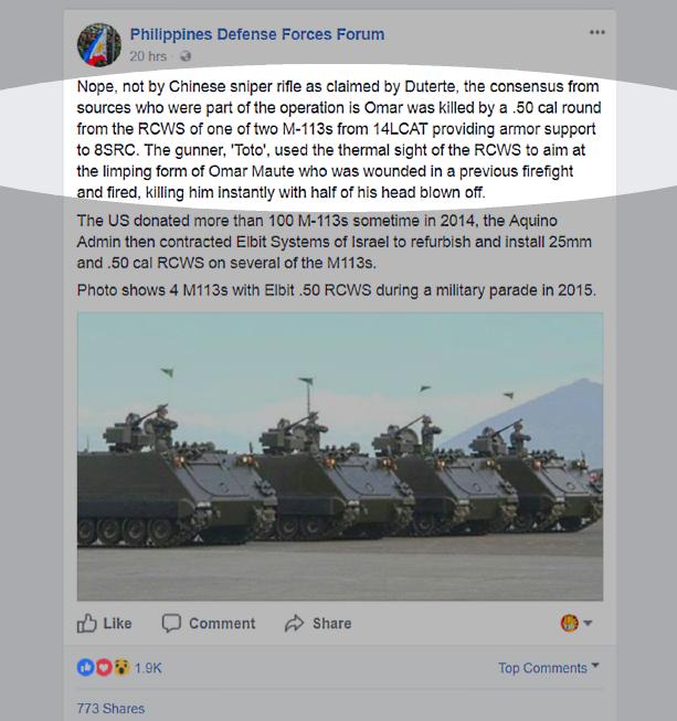 PH Defence Forum FB screencap