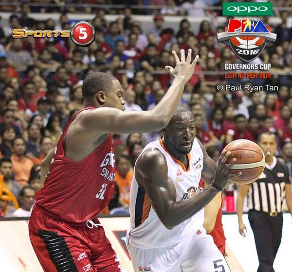 Ginebra blows out Meralco to take Game 1 of Govs' Cup Finals