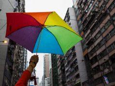 LGBT rainbow umbrella