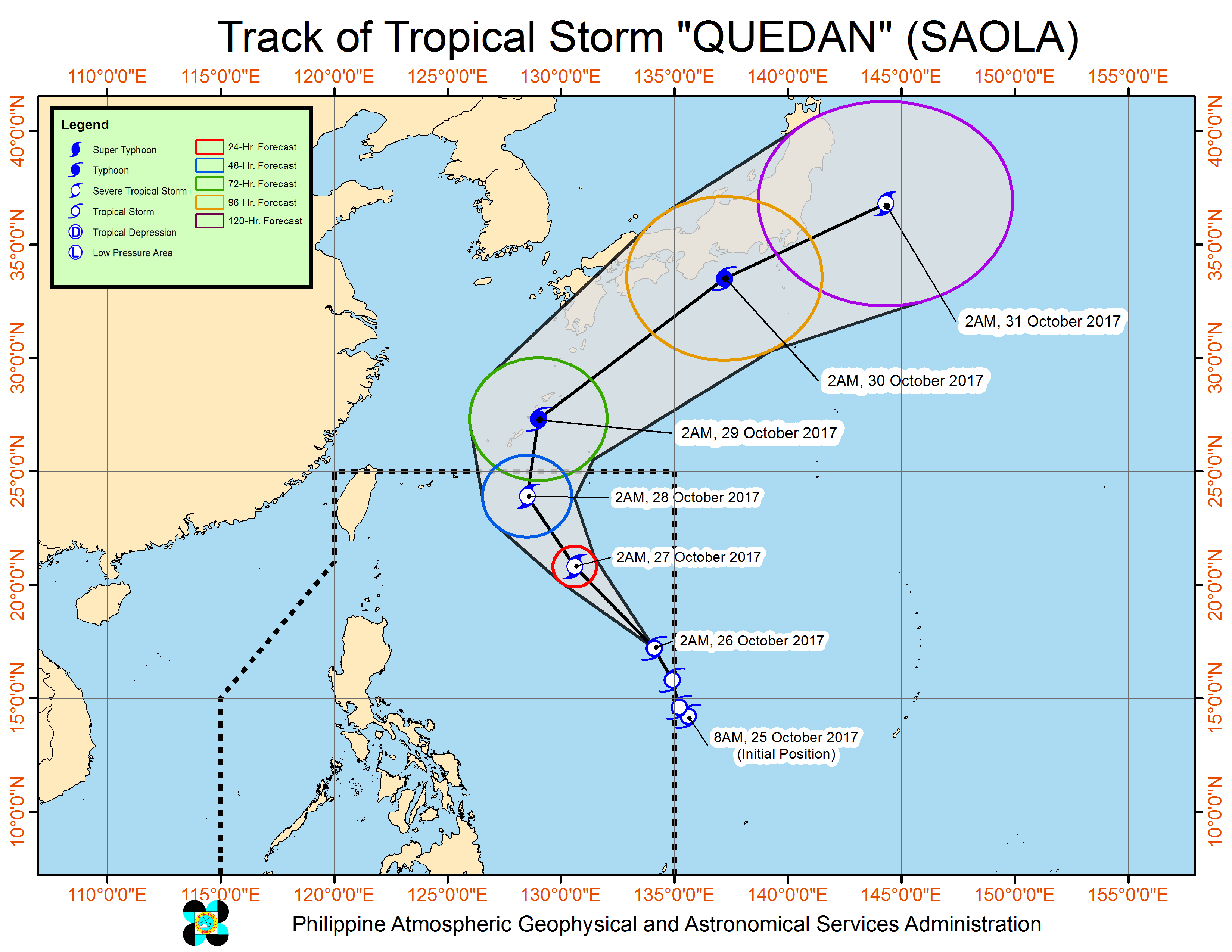 Tropical storm to enter PH