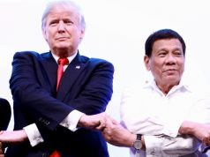 Duterte Trump hands clasp ASEAN2017