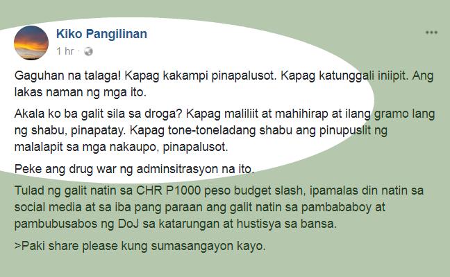 Kiko_Pangilinan_FB_post_bashing_drug_war
