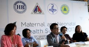 QC_Mayor_Bautista_speaks_Maternal_Neonatal_Health_Summit_handout