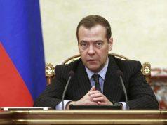 Russia PM Medvedev