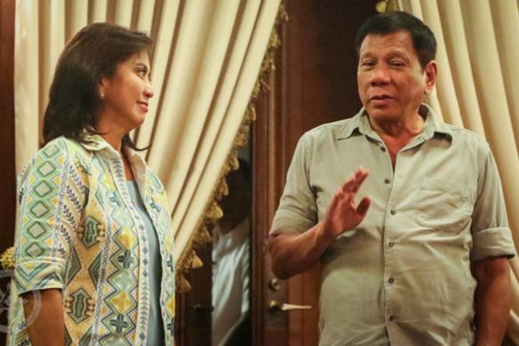 Vice President Leni Robredo and President Rodrigo Duterte