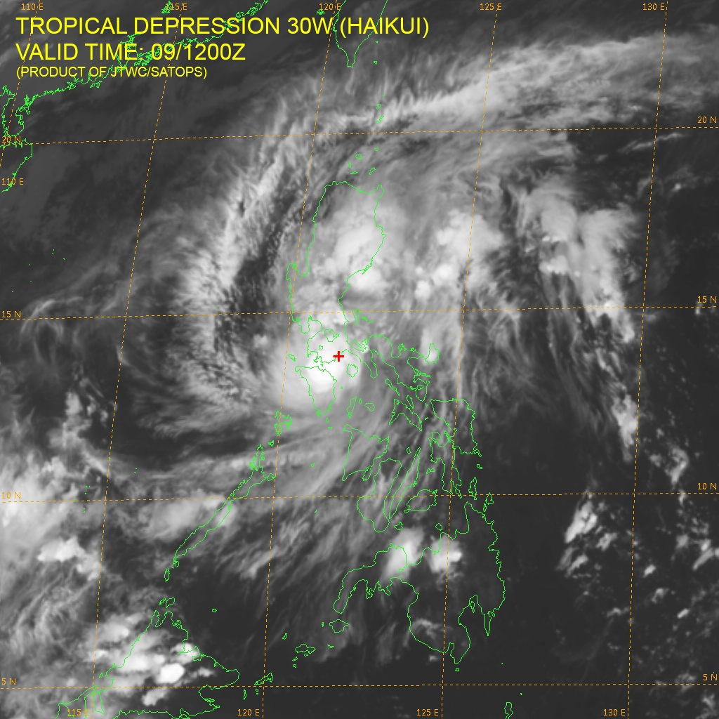 TS 'Salome' maintains strength as it moves to WPS