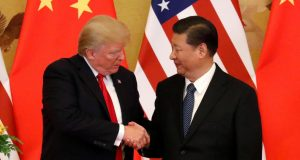 U.S. President Donald Trump and China's President Xi Jinping Interaksyon
