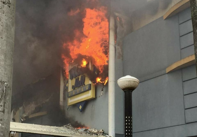 Fire hits Philippine mall; 2 dozen employees feared trapped
