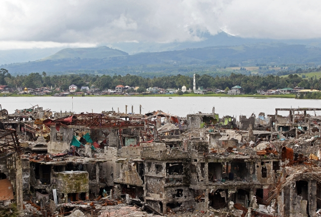 Marawi landscape of ruins
