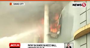 NCCC_Davao_fire_fighting_News5grab