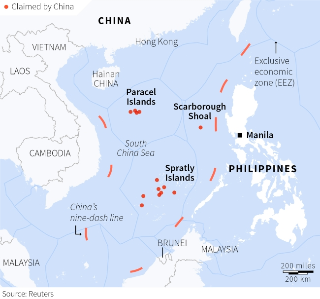 South china sea ph envoy sees no chinese withdrawal from south china sea ph envoy sees no chinese withdrawal from scarborough despite improved relations with beijing gumiabroncs Image collections
