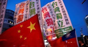 China Taiwan flags Interaksyon