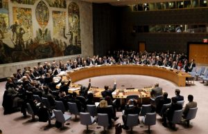 Members of the security council voted at the United Nations Headquarters in Manhattan, New York