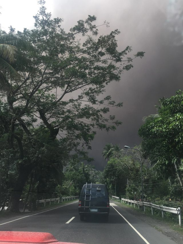 Low visibility around Mayon Volcano