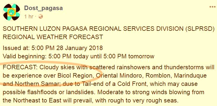PAGASA_forecast_Southern_Tagalog