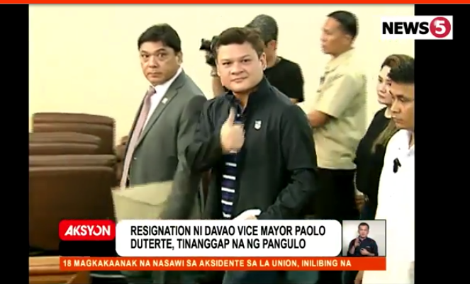 Duterte accepts son Paolo's resignation