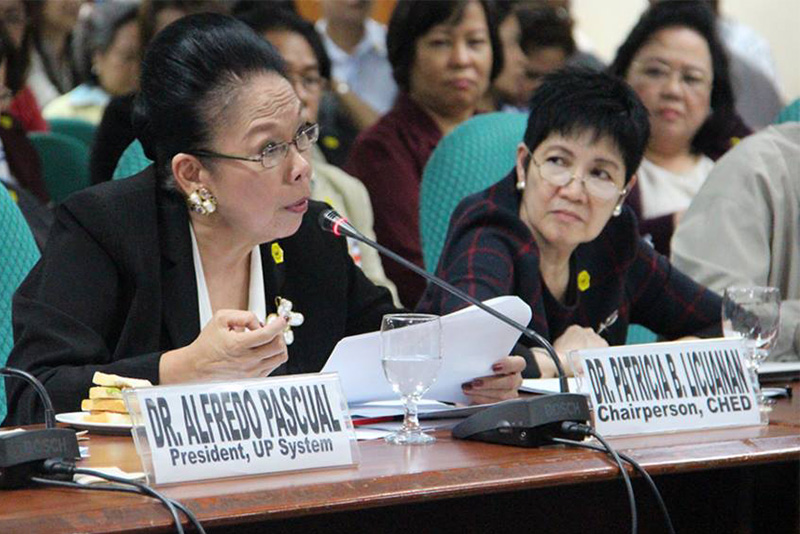 Lady CHED chair Licuanan quits