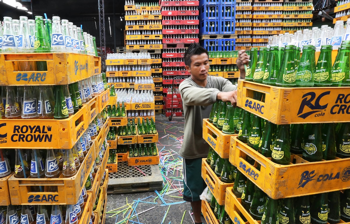 Workers for a beverage dealer in Quezon City