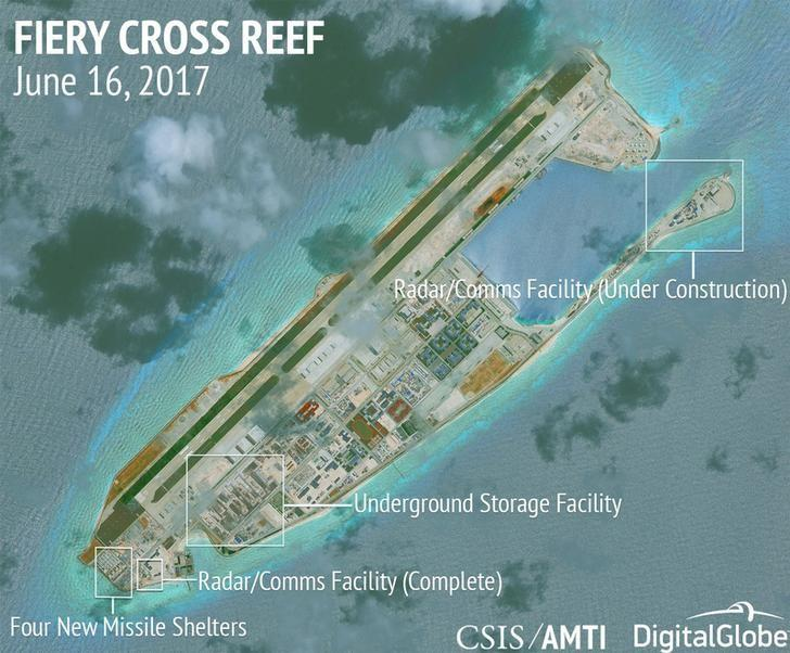 China air base on Kagitingan Reef a security threat, says Palace