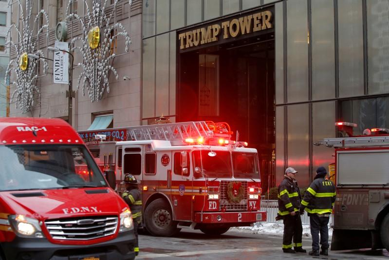 Three hurt as fire at Trump Tower brought under control
