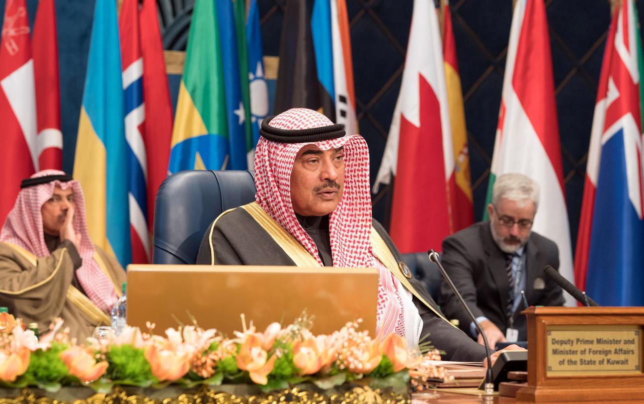 Kuwait's Minister of Foreign Affairs Sheikh Sabah al Khalid Al Sabah