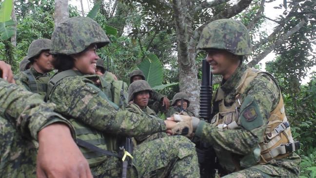Makabayan_couple_Denemar_Christine_the_proposal33rd Infantry_Makabayan_handout_02132018
